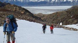 traversée paso huemul - parc national des glaciers en patagonie