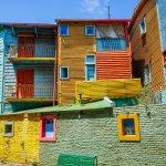 maisons colorées de caminito à la boca, buenos aires