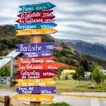 panneaux à el chalten, patagonie argentine