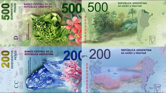 argentine nouveaux billets de banque