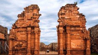 ruines de san ignacio, misiones, argentine