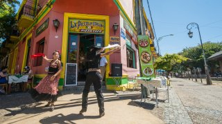 Danseurs de Folklore à La Boca - Caminito - Buenos Aires