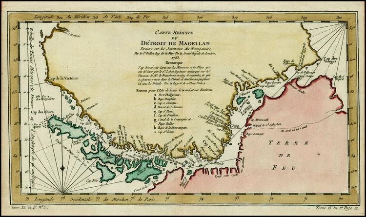 carte détroit de Magellan