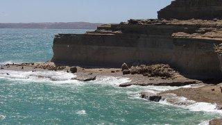 falaises côte atlantique de patagonie - voyage argentine