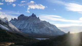 lever du soleil - paine grande - trek patagonie