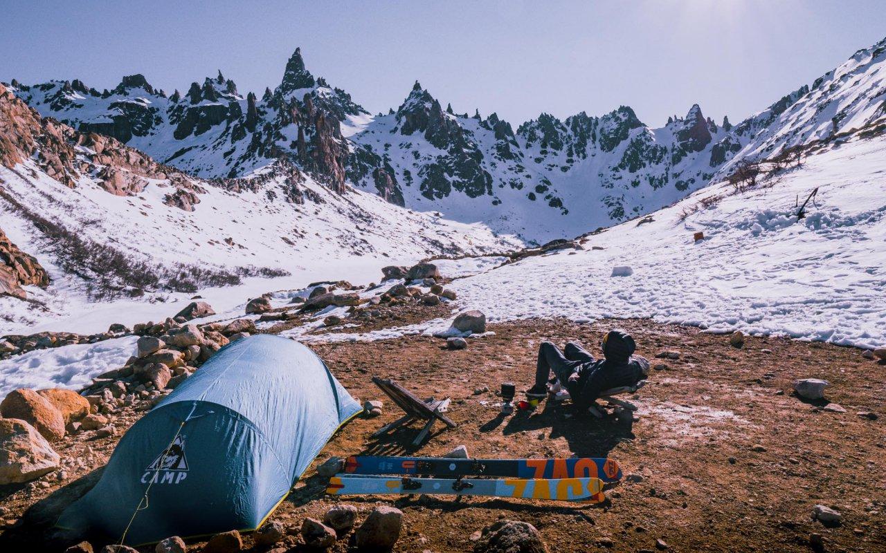 refuge frey début hiver - patagonie